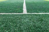 White Sideline on Football Field — Foto Stock