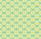 Green Plus Sign and Rectangle Seamless Pattern on Pastel Backgro — Stock Vector