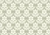 Damask Flower Pattern on Pastel Background — Stock Vector