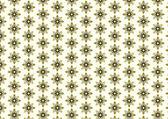 Retro Blossom and Tribal Pattern on Pastel Background — Stockvektor