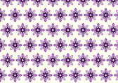 Purple Tribal Bloom and Lobe Pattern on Pastel Background — Stock Vector