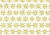 Gold Tribal Bloom and Lobe Pattern on Pastel Background — Stock Vector