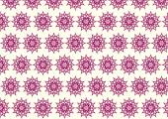 Dark Purple Retro Bloom and Arrow Shape and Lobe Pattern on Past — Stock Vector