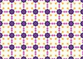 Purple Retro Blossom and Arrow Shape Pattern on Pastel Backgroun — Stock Vector