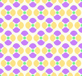 Violet and Yellow Abstract Flower and Circle Pattern on Pastel B — Stock Vector