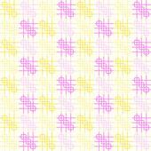 Różowy i żółty zaokrąglony róg i wzór linii na tle Pastel — Wektor stockowy