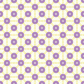 Violet Vintage Flower and Swirl Pattern on Pastel Background — Vetor de Stock