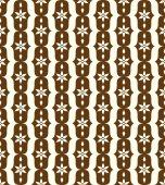 Brown Classic Flower and Lobe Seamless Pattern — Stock Vector