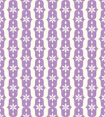 Violet Classic Flower and Lobe Seamless Pattern — Stock Vector