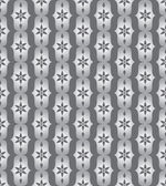Silver Classic Flower and Lobe Seamless Pattern — Stock Vector