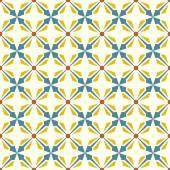 Blue and Yellow Abstract Rectangle and Arrow and Circle Shape Se — Stockvektor