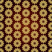 Gold Vintage Jasmine Flower Seamless Pattern — Stock Vector