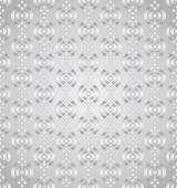 Silver Abstract Lotus Seamless Pattern on Pastel Background — Stock Vector