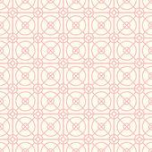 粉红色的圆形和方形和六角形无缝模式 — 图库矢量图片