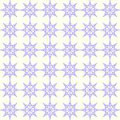 Purple Double Star and Circle Seamless Pattern on Pastel Color — Stock Vector