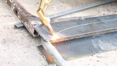 ガスで板金加工 — ストックビデオ