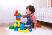 2 years toddler playing at home — Stock Photo