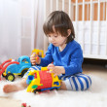 Little boy plays cars — Stock Photo #57463581
