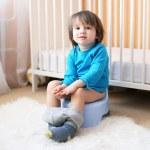Little boy sitting on potty — Stock Photo #59648137