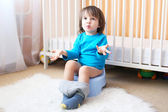 Little boy on potty — Stock Photo