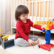 Toddler plays cars — Stock Photo #63381119