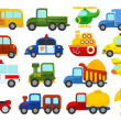 Set of different cars on white background — Stock Photo #77617810