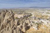 Panoramic View From Uchisar Castle, Nevsehir, Turkey — Stock Photo