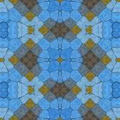 Glass mosaic kaleidoscopic seamless generated hires texture — Stock Photo