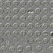 Metal relief 54 smiley emotion icons — Stock Photo #52252175