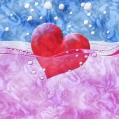 Philtre drink of love relief painting on generated marble textur — Stock Photo