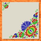 Moravian folk ornament writing paper marble texture background — 图库照片