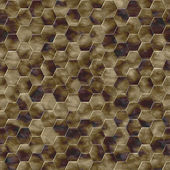 Hexacomb tiling seamless generated texture — Stock Photo