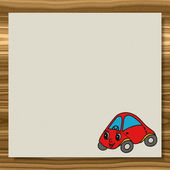 Car writing paper wood texture background — Stock Photo