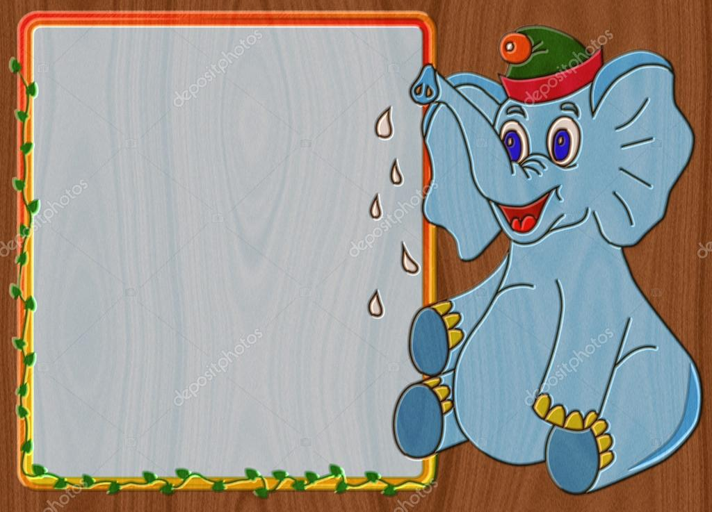 Painted Elephant Background Elephant Relief Painting on