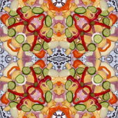 Kaleidoscopic food seamless generated texture — Stockfoto