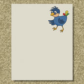 Bird writing paper knit texture background — Stock Photo