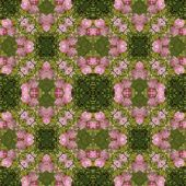 Kaleidoscopic flower seamless generated texture — Stock Photo