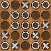 Tic Tac Toe wooden board generated seamless texture — Stock Photo