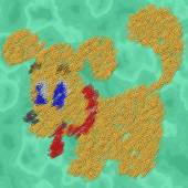 Dog paper clips image generated texture background — Stock Photo