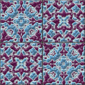 Glazed tiles seamless generated hires texture — Stock Photo