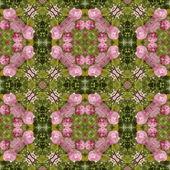 Kaleidoscopic flower seamless generated texture — Stock Photo