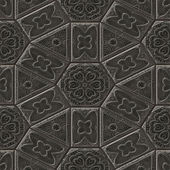 Mayan ornaments seamless hires generated texture — Stock Photo