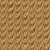 Golden drapery seamless generated texture — Stock Photo