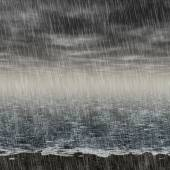 Abstract rainy landscape generated hires background — Stock Photo