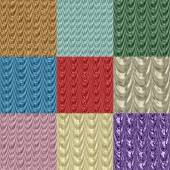 Set of drapery seamless generated textures — Stock Photo
