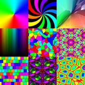 Set of rainbow pattern textures — Stock Photo
