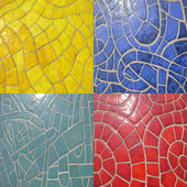 Set of glazed stone textures — ストック写真
