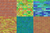 Set of brick wall seamless generated textures — Stock Photo