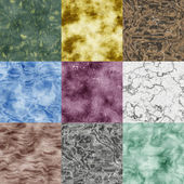 Set of marble seamless generated textures — Stock Photo