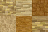 Set of wood floor seamless generated textures — Stock Photo